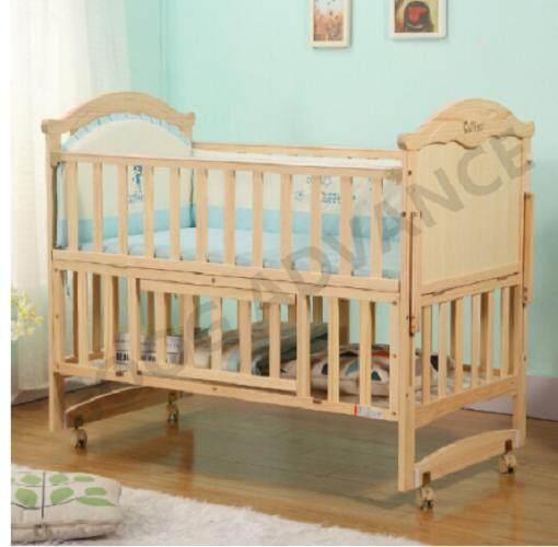 เตียงนอนเด็กไม้ทำจากไม้สนแท้ 100%แถมมุ้ง ไม่มีเบาะรอบข้าง By Good Advance.