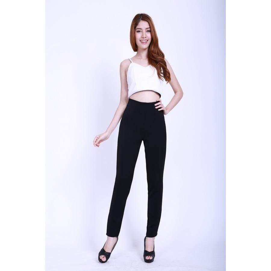 ขาย Eiffel Jeans กางเกงเอวสูง ขายาว ทรงเดฟ Eha001 สีดำ Eiffel Jeans