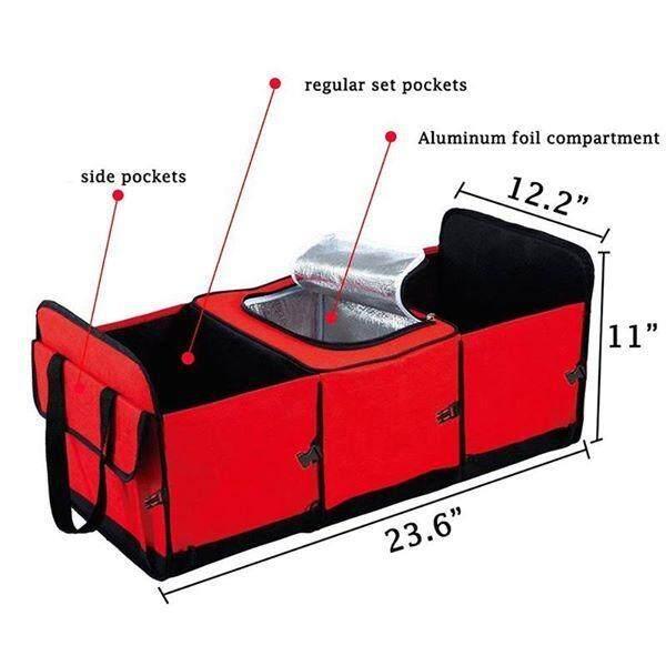 ขาย กล่องใส่ของเอนกประสงค์ กล่องเก็บของหลังรถ มีช่องเก็บความเย็น รุ่น Bcool พับเก็บได้ ถูก ใน ไทย