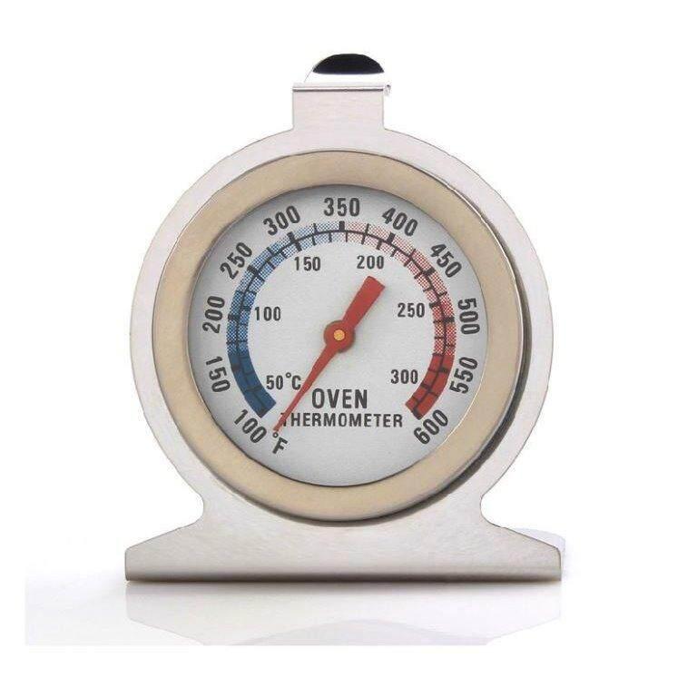 เทอร์โมมิเตอร์สำหรับเตาอบ ที่วัดอุณหภูมิในเตาอบ แบบกลม สเตนเลส.