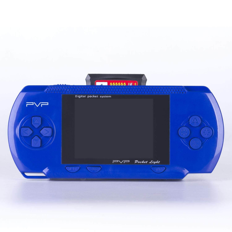 เครื่องเล่นเกมส์พกพา PVP3000 เล่นเกมส์เครื่อง FR มาริโอ้ มาริโอ้ 3 คอนทร้า และเกมส์อื่นๆ มากกว่า 100 เกม ต่อออกทีวีได้ เล่นได้นานกว่า 4 ชั่วโมง พร้อมตลับเกมและเกมในเครื่อง