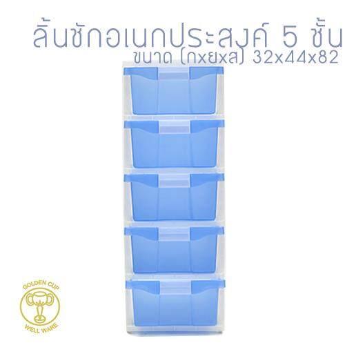 Well Ware ตู้ลิ้นชักพลาสติก5ชั้น Ag515/5-Blue.