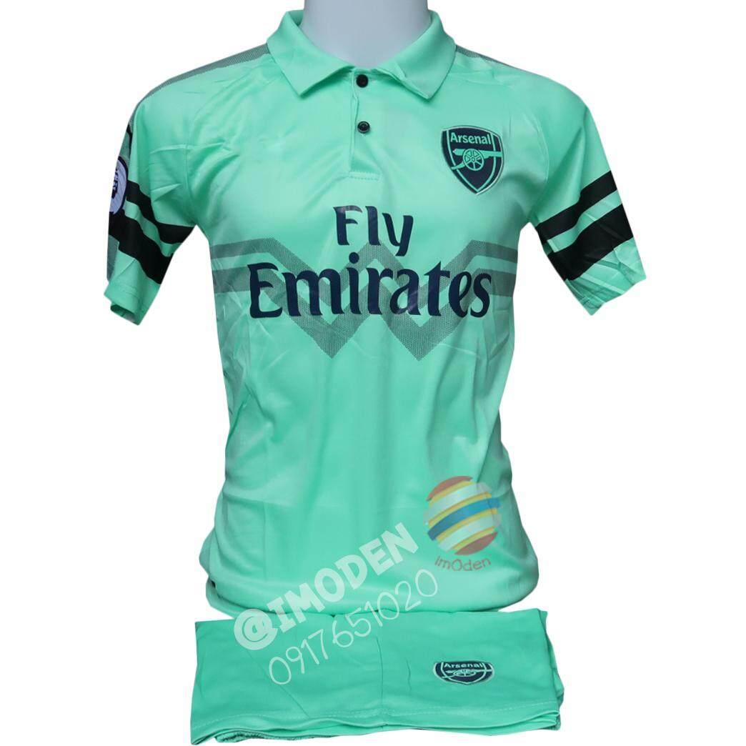 ชุดฟุตบอล (เสื้อฟุตบอล+กางเกงฟุตบอล) ผู้ใหญ่ สีเขียวอ่อน Ars003 By Imoden.