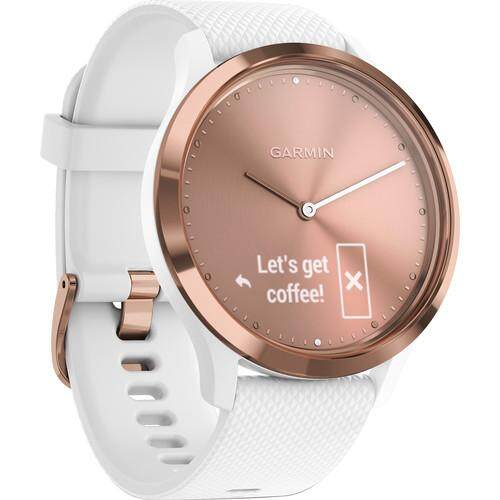 ยี่ห้อไหนดี  อุดรธานี Garmin Vivomove HR Sport Watch - [Rose Gold with White Silicone Band  Regular]