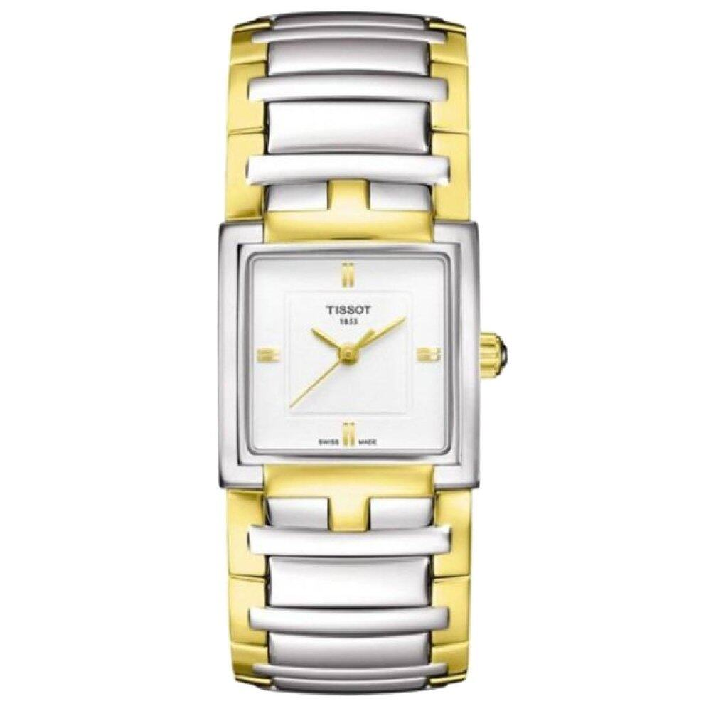 Tissot Women T Race Ladies T0482171701700 Evocation Multicolored Stainless Steel Case Two Tone