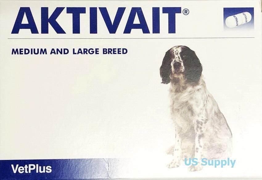 ลดสุดๆ AKTIVAIT Medium and Large Breed (60 แคปซูล) อาหารเสริม บำรุงสมองและระบบประสาท สุนัข  EXP: 09/2021 +ส่งฟรี  KERRY+