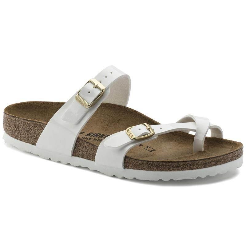 d35ba51a41ee1 Brand Birk BK Original Birkenstocks Sandals Women Mayari Birko-Flor Patent  Patent White