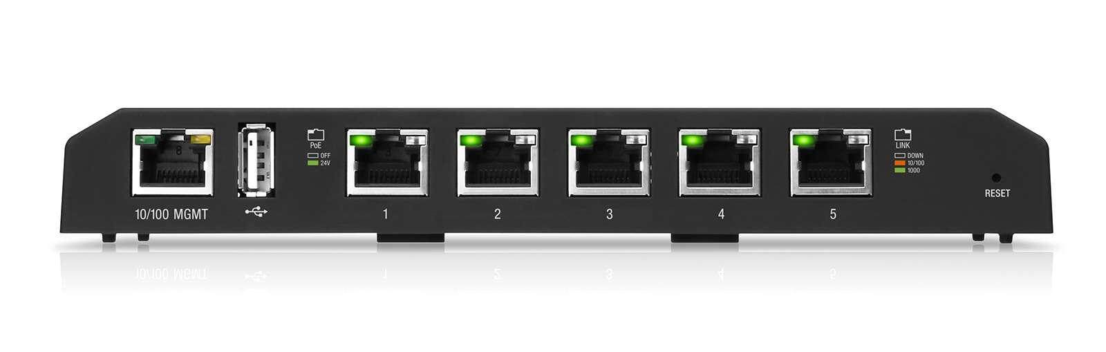 ขายดีมาก! UBiQUiTi EdgeSwitch 5 XP (ES-5XP) - 5-Port Gigabit 1000 Mbps  24VDC Passive  (Max 11.5 W/Port) Advanced Power Over Ethernet Switches  shipping by kerry