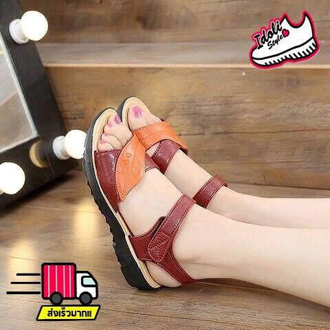 Idoli Style รองเท้ารัดส้น รองเท้าแตะรัดส้น รองเท้าแตะสไตล์เกาหลี รองเท้าแฟชั่น.