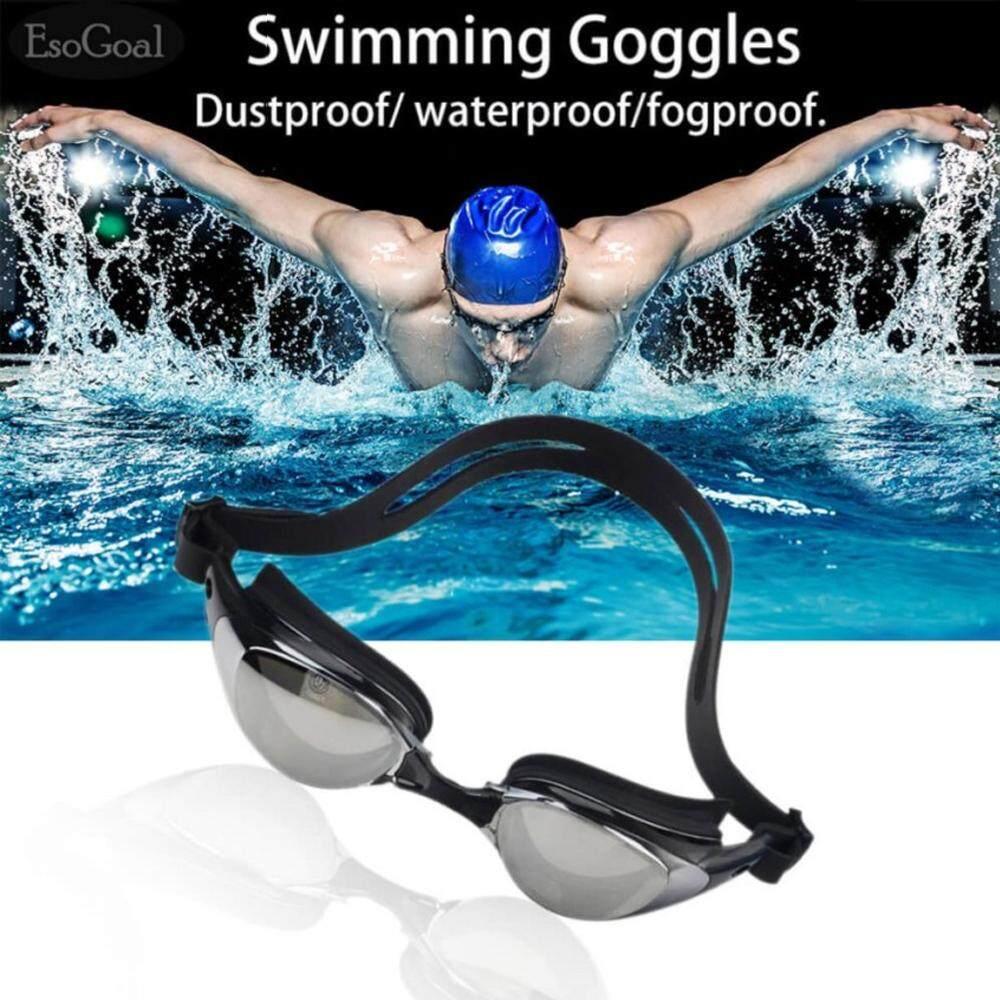 Esogoal Mirrored ซิลิโคนแว่นตาว่ายน้ำแว่นตาดำน้ำ 100% U.v. ป้องกัน, Anti-Fog, Anti-Shatter, กันน้ำแก้ว ,.