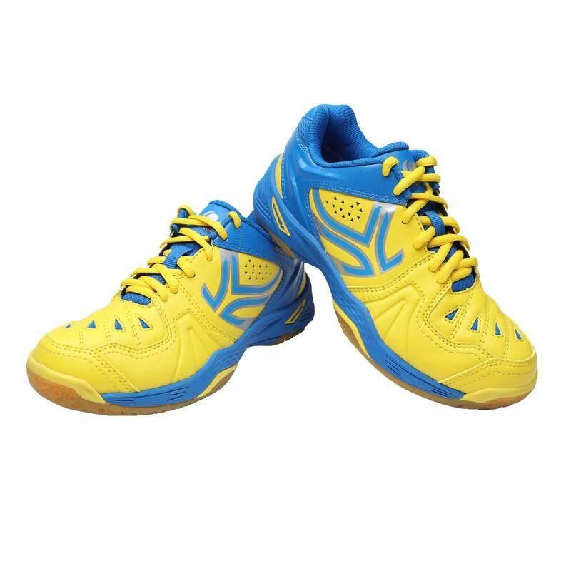 รองเท้าแบดมินตันสำหรับเด็กรุ่น Bs800 (สีเหลือง/ฟ้า) By Moomooshop.