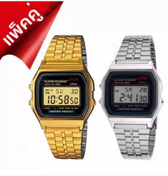 Korea  แพ็คคู่ นาฬิกา ซื้อ 1 แถม 1 รุ่น Zd-0041 สีทอง ฟรี Zd-0041 สีเงิน สายแสตนเลส หน้าปัดไฟled สไตล์แบรนด์ดัง นาฬิกาข้อมือผู้หญิง นาฬิกาสไตล์เกาหลี นาฬิกาแฟชั่น นาฬิกาเกาหลี นาฬิกาแพ็คคู่.