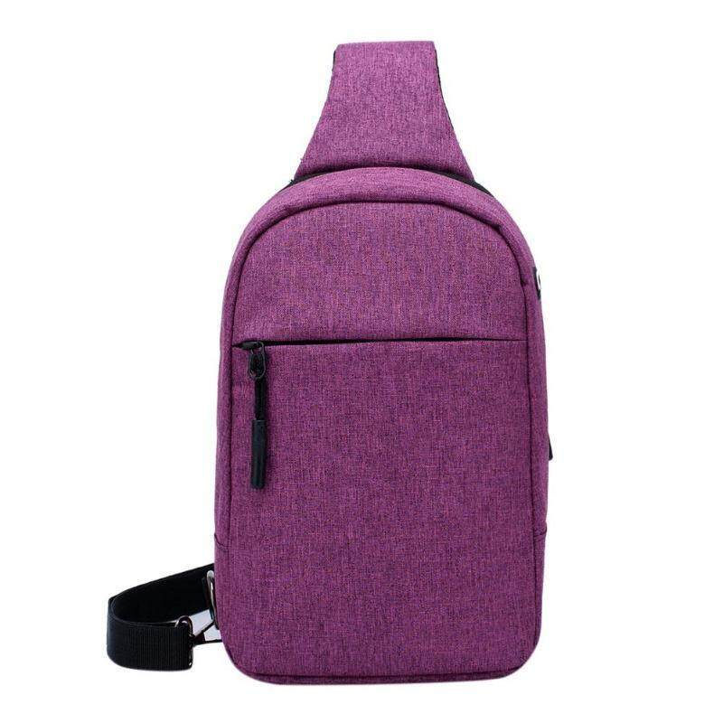 Soft Messenger Bag Multipurpose Casual Crossbody Cycling Chest Pack(purple) By 342billcarpenter.