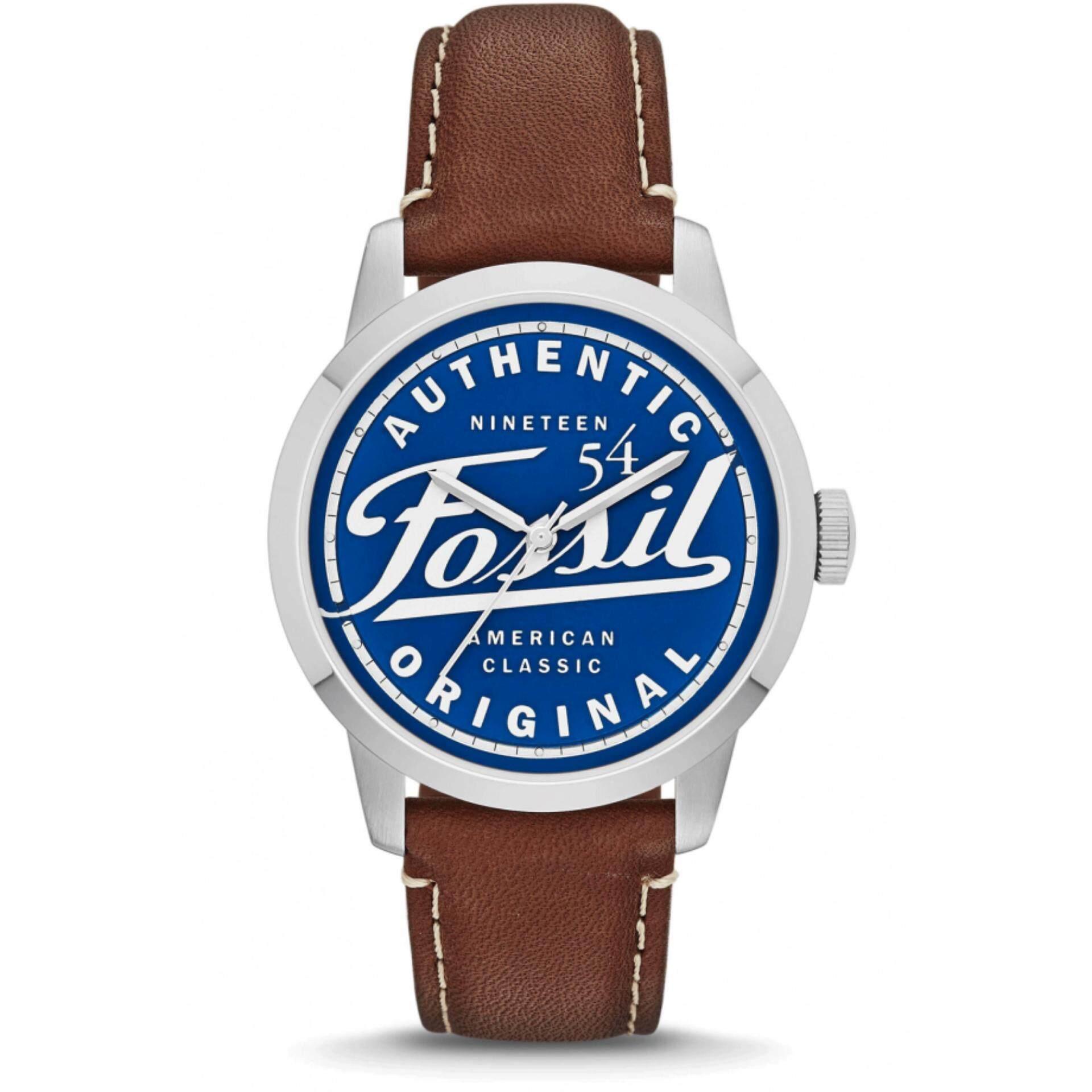 Fossil Fs4897 นาฬิกาข้อมือผู้ชาย สายหนัง สีน้ำตาล Special Edition 30Th Anniversary ไทย