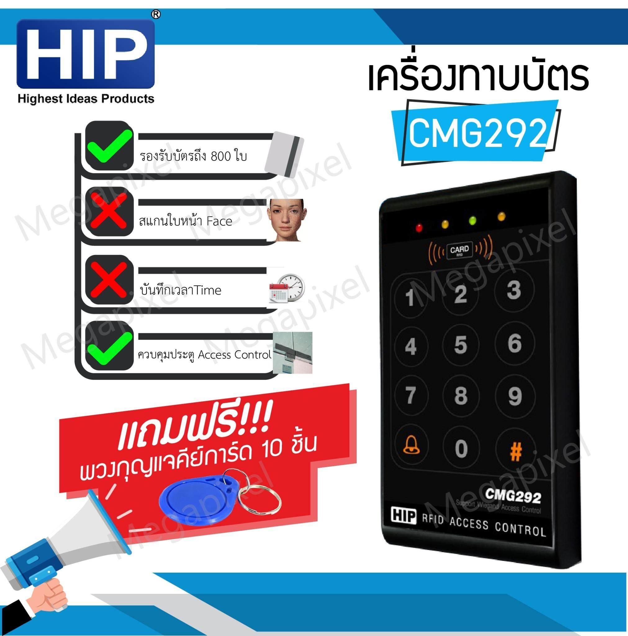 Hip Cmg292 เครื่องทาบบัตร Access Control สำหรับควบคุมการเข้าออกประตู.
