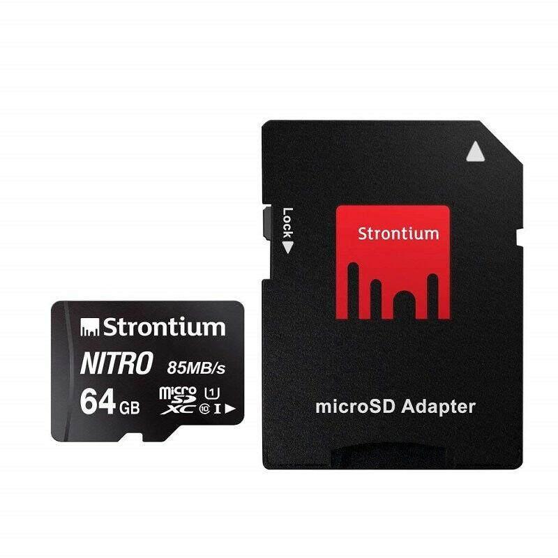 เก็บเงินปลายทางได้ [Wevery]- Strontium NEW NITRO 64GB MicroSD UHS-I w/h Adapter micro sd card หน่วยความจำ เมมโมรี่การ์ด ส่ง Kerry เก็บปลายทางได้