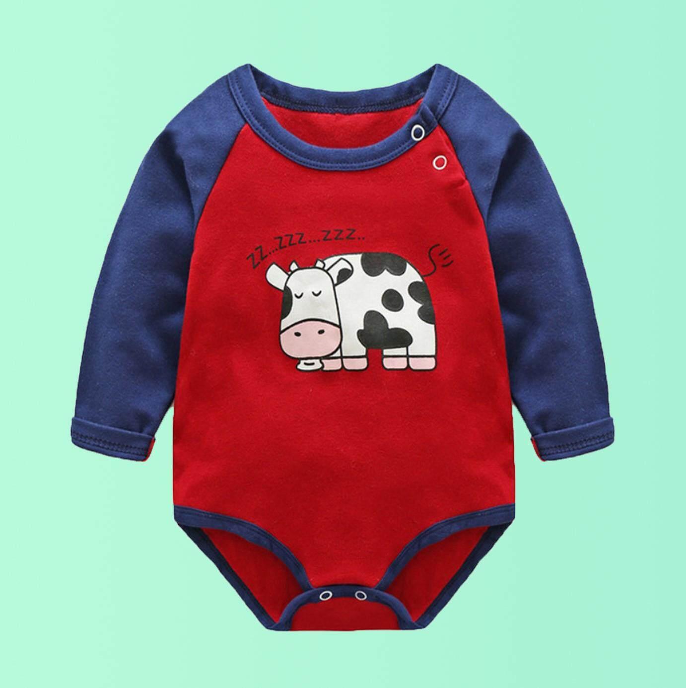 ด่วน!! On Sale บอดี้สูทเด็ก เจ้าวัวแอบหลับ Zzz ขนาด 73 Cm อายุ 6-9 เดือน .