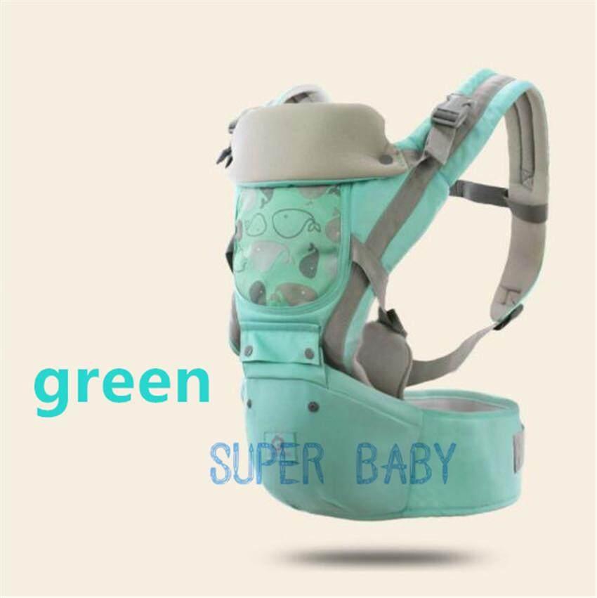 super baby  เป้อุ้มเด็กนั่ง aiebao Hip Seat 3 in 1 สามารถนั่งและนอนได้ พาสเทล(Pastel) สะพายหน้าและสะพายหลังได้ รุ่น: B15
