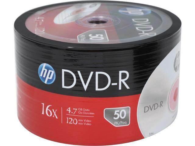 แผ่นดีวีดี Dvd-R 4.7gb 16x (แพ็ค 50แผ่น) Hp ของแท้ By Kelly117.