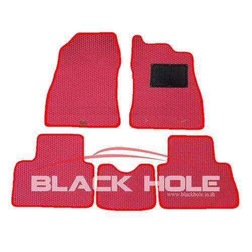 ทบทวน Blackhole Carmat พรมรถยนต์เข้ารูป 2 ชั้น Nissan Juke ปี 2014 ปัจจุบัน Red Rubber Pad รุ่น Jnijuyrr สีแดง