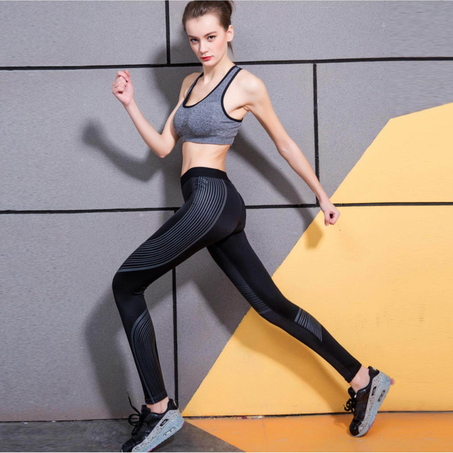ขาย กางเกงผู้หญิงขายาวออกกำลังกาย โยคะ ฟิตเนส กระชับกล้ามเนื้อ ราคาถูกที่สุด