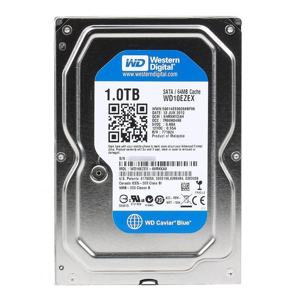 1 Tb Hdd (ฮาร์ดดิสก์) Wd Blue 7200rpm Sata3 ( Wd10ezex ) By Jib Computer Group.