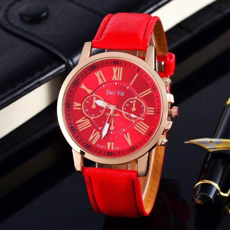 GENEVA Women Watch นาฬิกาข้อมือผู้หญิง สายหนัง รุ่นGP#001