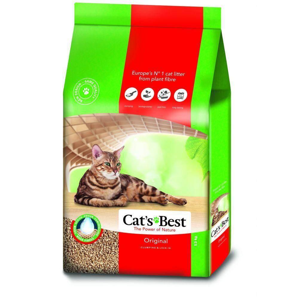ทรายแมว Cats Best สูตร Original (ชื่อเดิมoko Plus) สีแดง ขนาด 40 ลิตร.