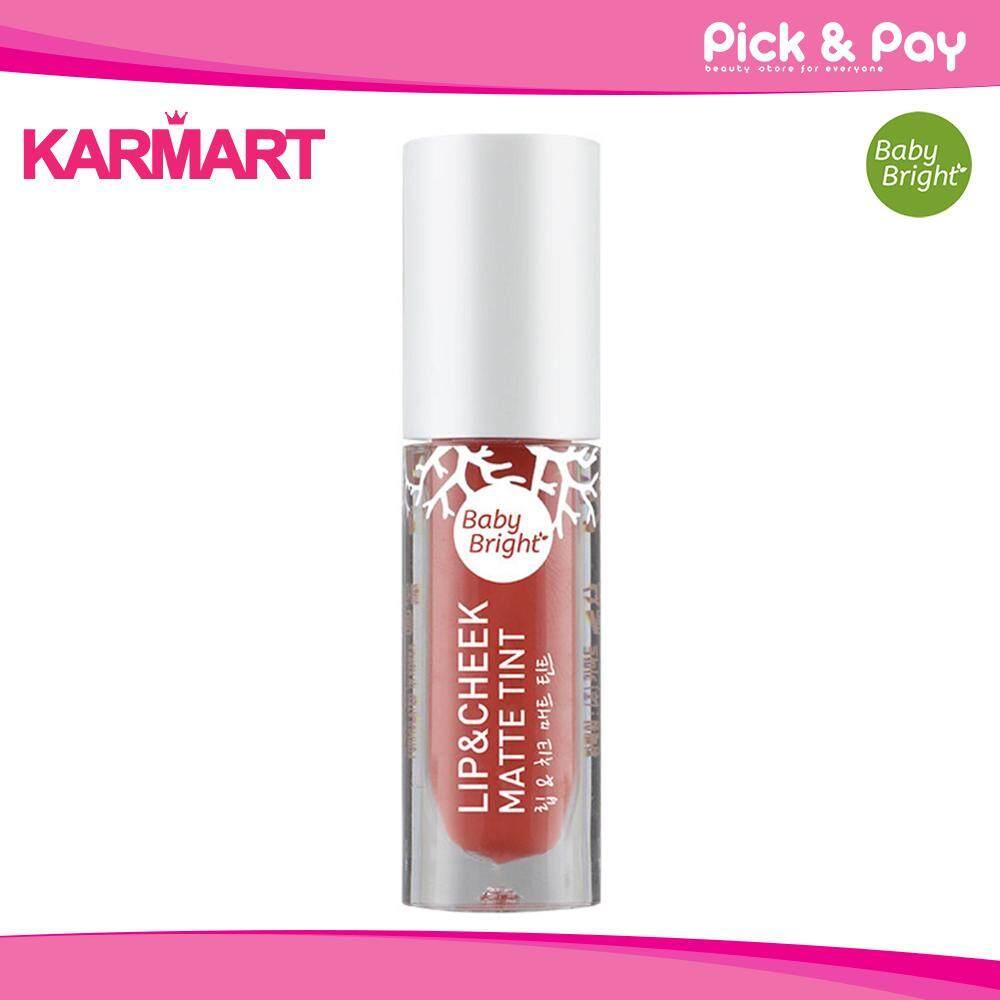 Baby Bright Lip & Cheek Matte Tint 2.4g ลิป Baby Bright เบบี้ไบรท์ ลิปแอนด์ชีคแมทท์ทินท์ By Pick And Pay.