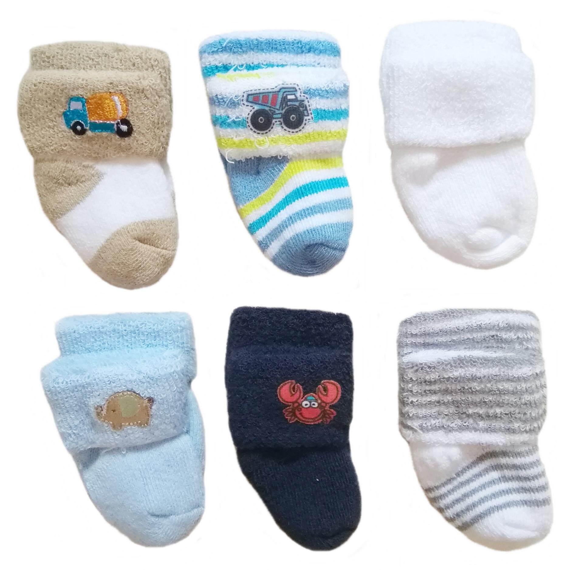 ขาย ถุงเท้าเด็กทารก เด็กอ่อน เด็กแรกเกิด 3 เดือน สำหรับเด็กผู้ชายน่ารัก แพ็ค 6 คู่ เป็นต้นฉบับ