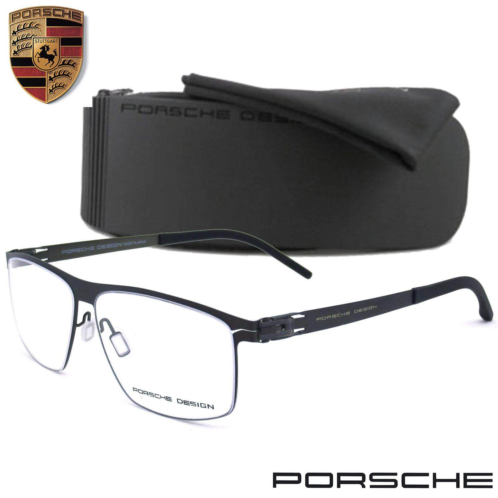 ทบทวน Porsche Design แว่นตา รุ่น 1081 ทรงสปอร์ต วัสดุ สแตนเลสสตีล หรือเหล็กกล้าไร้สนิม Stainless Steel ขาข้อต่อ กรอบแว่นตา