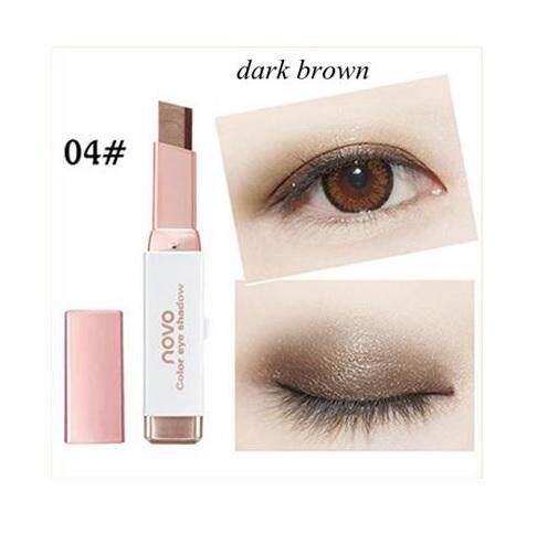 Novo Eyeshadow Double Color Gradient Velvet No.5099 แต่งตาทูโทน อายแชโดว์เนื้อครีมสีไฮไลท์กันน้ำ สีสวยสไตร์เกาหลี  04.