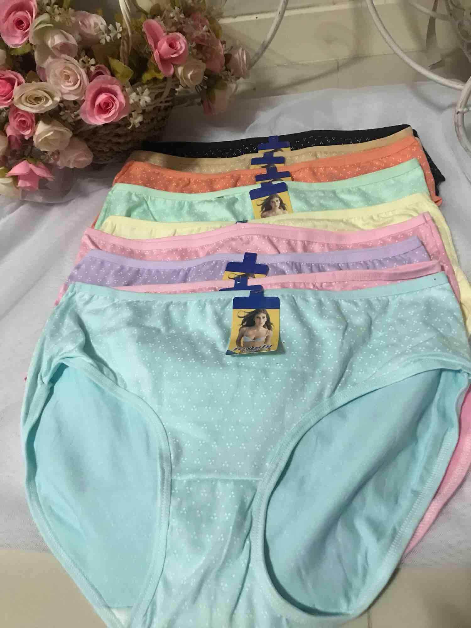 กางเกงในผู้หญิงกางเกงในสาวอวบเอวใหญ่37-42นิ้วผ้าcottonเนื้อดีมาก(โปรดอ่านรายละเอียด)แพค10ตัว