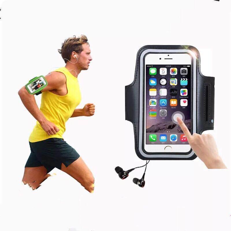 Waterproof Sport Armband ปลอกแขนมือถือออกกำลังกาย กันน้ำได้ สำหรับ Iphone 6 หน้าจอ 5.5 นิ้ว (สีดำ) By Jic-Shop.