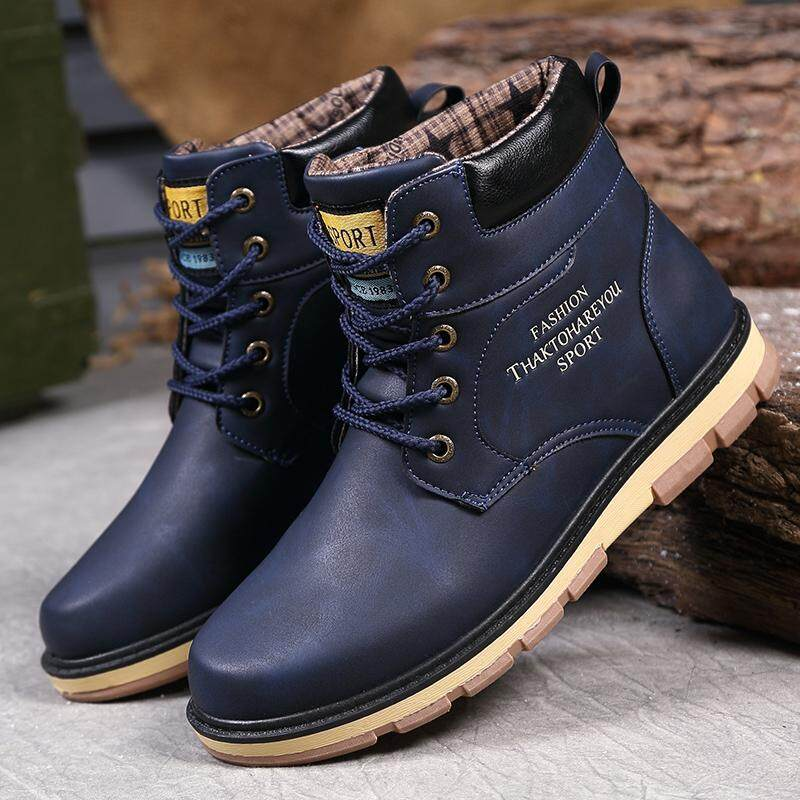 Yozo Men Shoes Fashion Work Boots Outdoor Sports Shoes Comfortable Snow Boots High Top Tide Boots By Zocn.