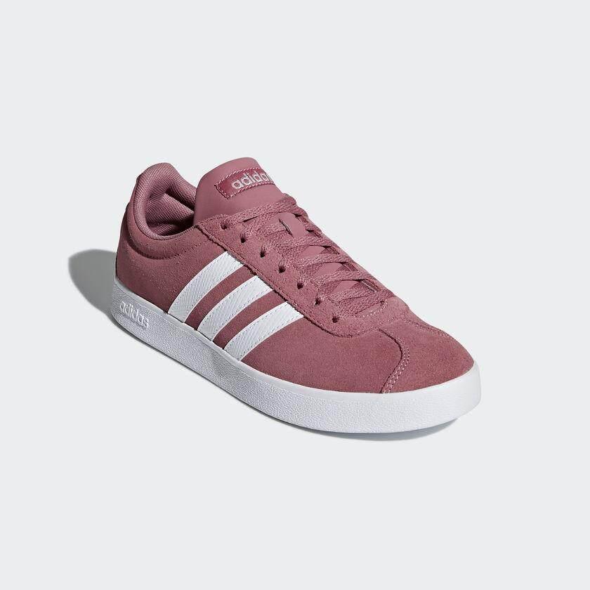 reputable site b8db4 ca6a1 ADIDAS WOMEN รองเท้าผ้าใบ ผู้หญิง รุ่น VL COURT 2.0 - B42313 (TRAMAR FTWWHT