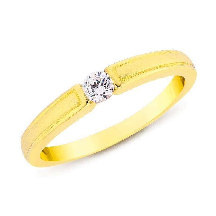 ซื้อ Trendy Diamond แหวนเงินแท้ประดับเพชร Cz หุ้มทองคำแท้ รุ่น Tsr169 Trendy Diamond ถูก