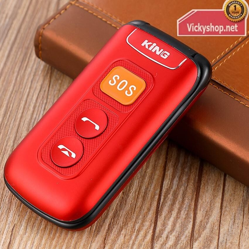 Star T116 - Red โทรศัพท์ มือถือ ฝาพับ ใช้ได้ทุกเครือข่าย 2ซิม 3G แข็งแรงทนทาน