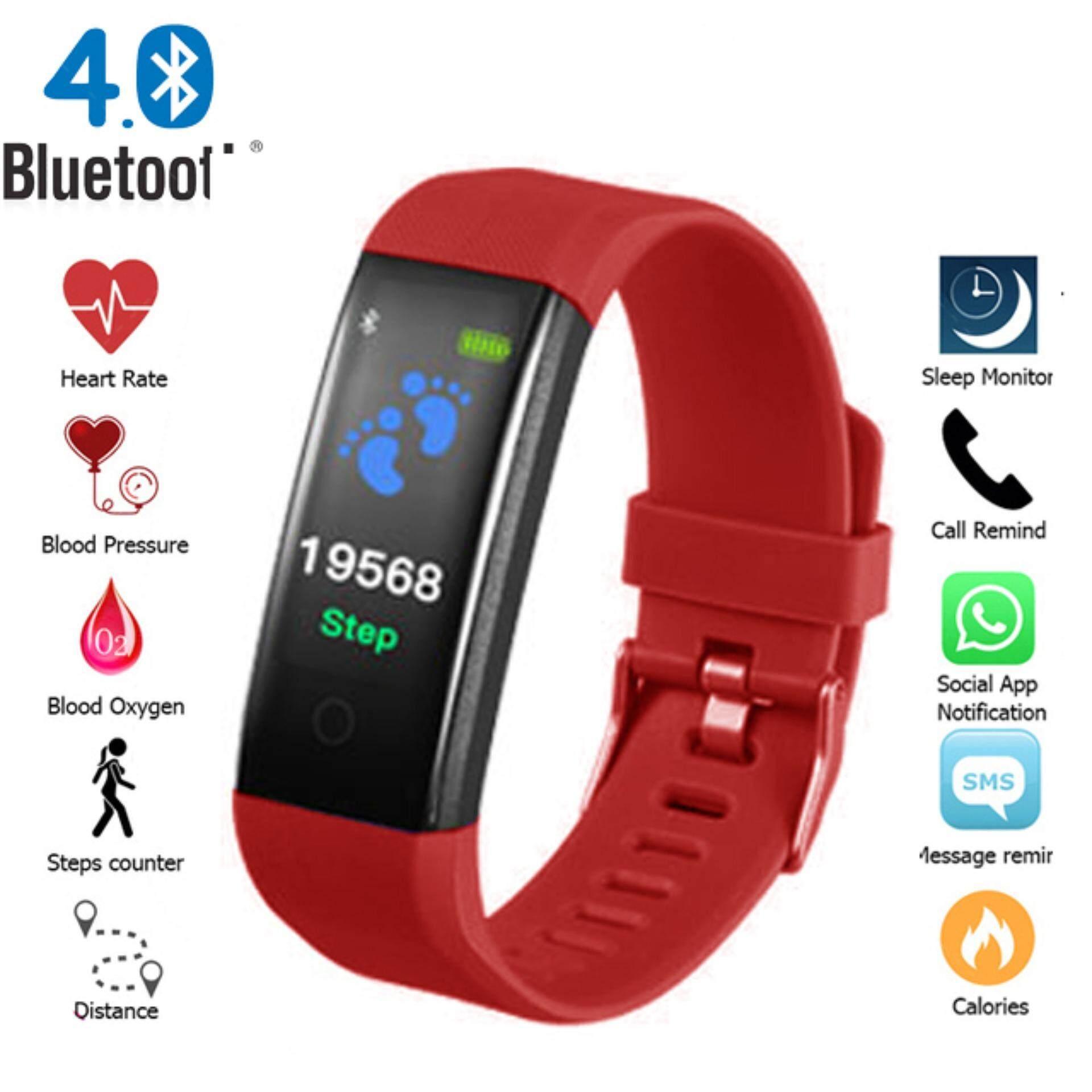 Zazzy Dolls นาฬิกาข้อมือ Smart Watch หน้าจอสี นับก้าวเดิน วัดอัตราการเต้นของหัวใจ วัดแคลอรี่ แจ้งเตือนสายเรียกเข้า เชื่อมต่อผ่าน Bluetooth รุ่น Zd-0164.