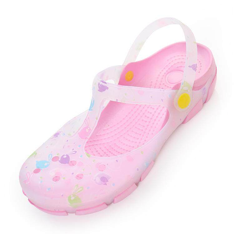 Summer Women Clogs High Quality Multicolor Garden Shoes Woman Beach Flat Sandals (pink) By Sinothai Online.