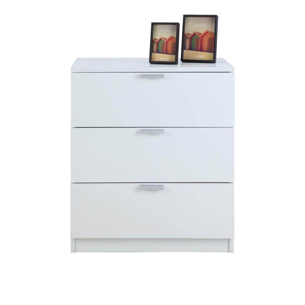 Winner Furniture ตู้ทรงเตี้ย 3 ลิ้นชัก รุ่น แม็กซ์ - สีขาว.