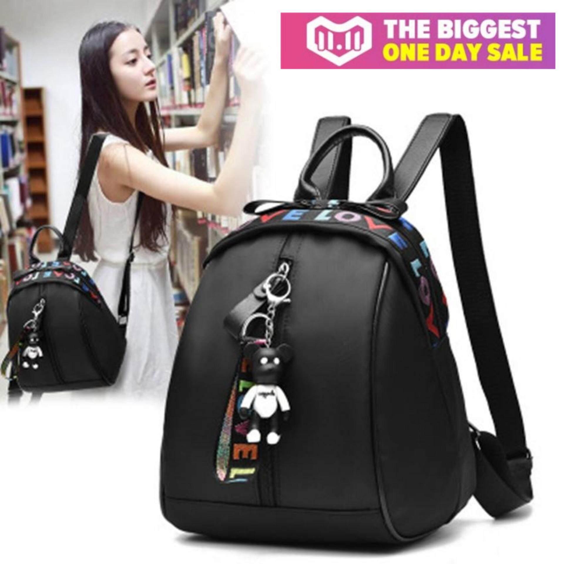 กระเป๋าถือ นักเรียน ผู้หญิง วัยรุ่น สุราษฎร์ธานี TB FASHION ดาวพร้อมกระเป๋าสะพาย กระเป๋า กระเป๋าเป้ กระเป๋าสะพายหลัง Backpack No B01   BLACK