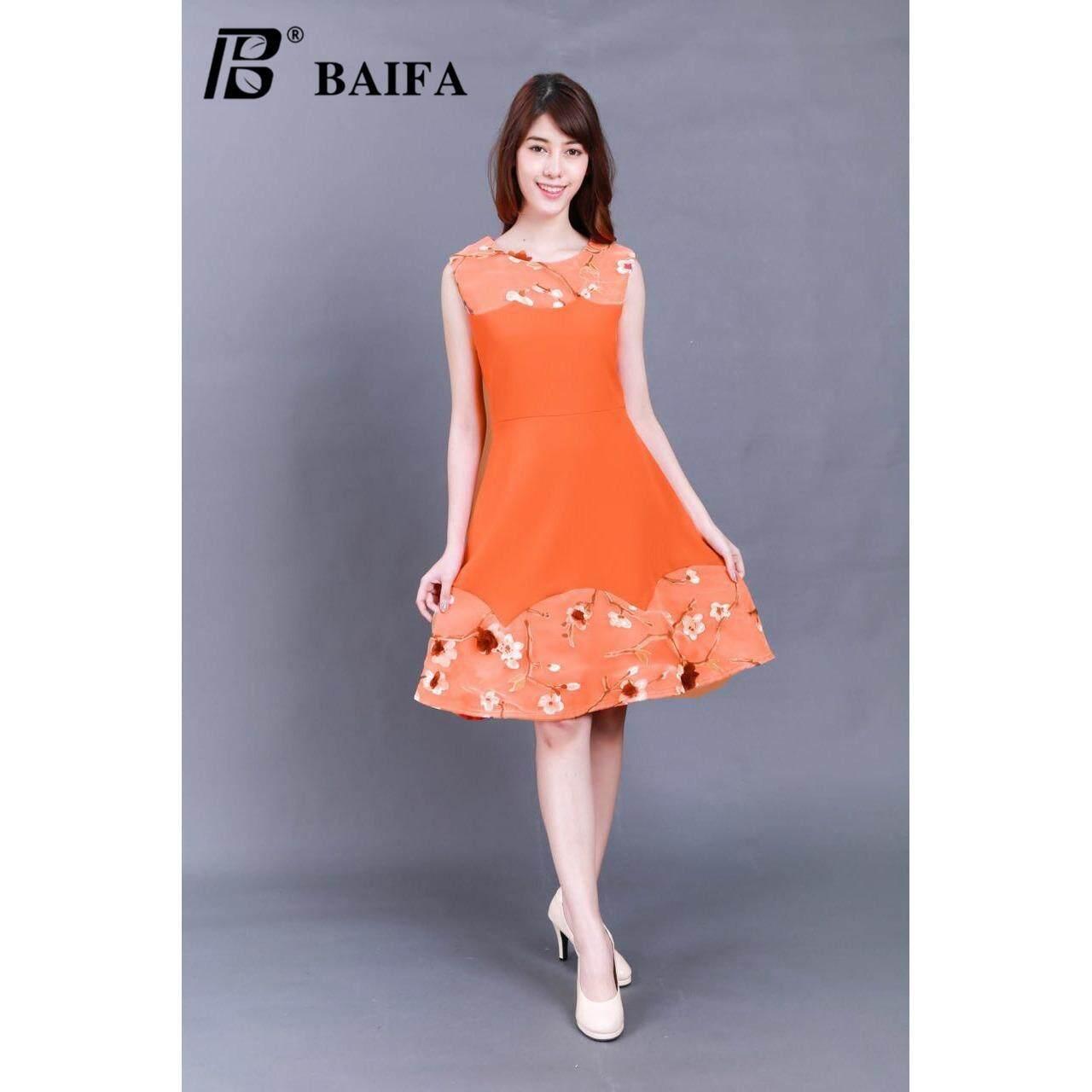 ราคา Baifa Shop ชุดเดรสดำเอวระบาย ลูกไม้ผ้าเนื้อดี ไม่ต้องรีด ทรงสวยหรู รุ่น3605 ใน กรุงเทพมหานคร