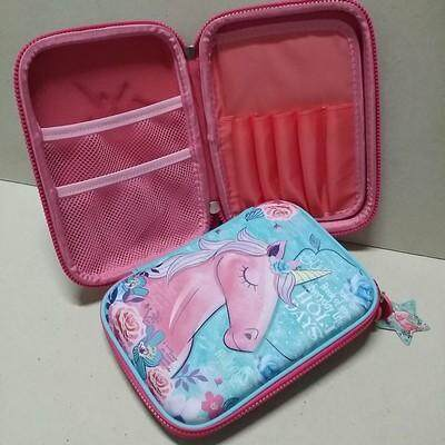 ขายดีมาก! ส่งฟรี kerry !!! ขาย กล่องดินสอสมิกเกิ้ล EVA กระเป๋าดินสอ กล่องดินสอ smiggle hardtop pencil case 3d 3ดี ลาย ยูนิคอร์น Unicorn