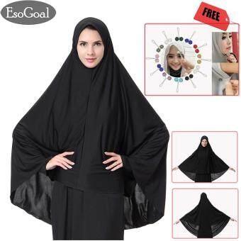 ราคาถูกที่สุด EsoGoal ฮิญาบแฟชั่น ผ้าพันคอผ้าโพกหัวหมวก Women's Muslim Large Overhead Hijab Abaya Jilbab Islam Long Sleeve Hijab Abaya Prayer Dress for Hajj ...