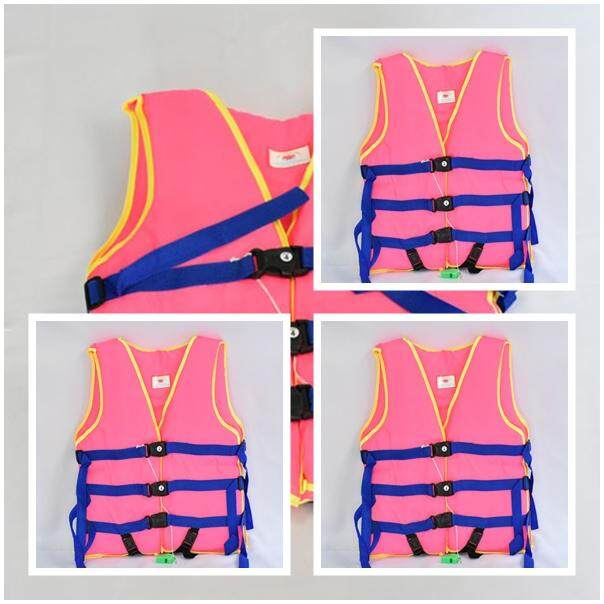 แพ็ค 3 ตัว เสื้อชูชีพเด็กโต เสื้อชูชีพ Life jacket รับน้ำหนักได้ 45 Kg รอบอก 26-30 นิ้ว ยาว 18 นิ้ว #4 พร้อมนกหวีด
