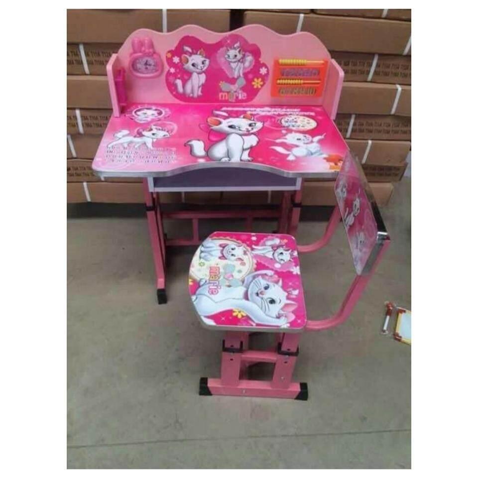 ชุดโต๊ะทำการบ้านเด็กลายแมวมารีส่งฟรีkerry