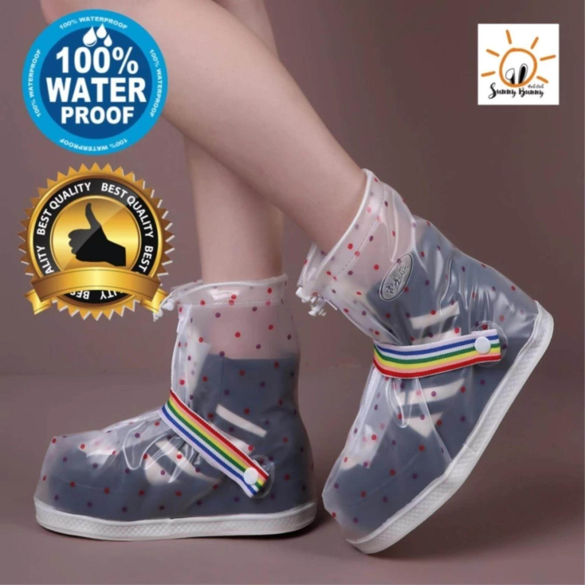 Sunnybunny ถุงคลุมรองเท้ากันน้ำ กันฝน ลายจุด H 352 เป็นต้นฉบับ