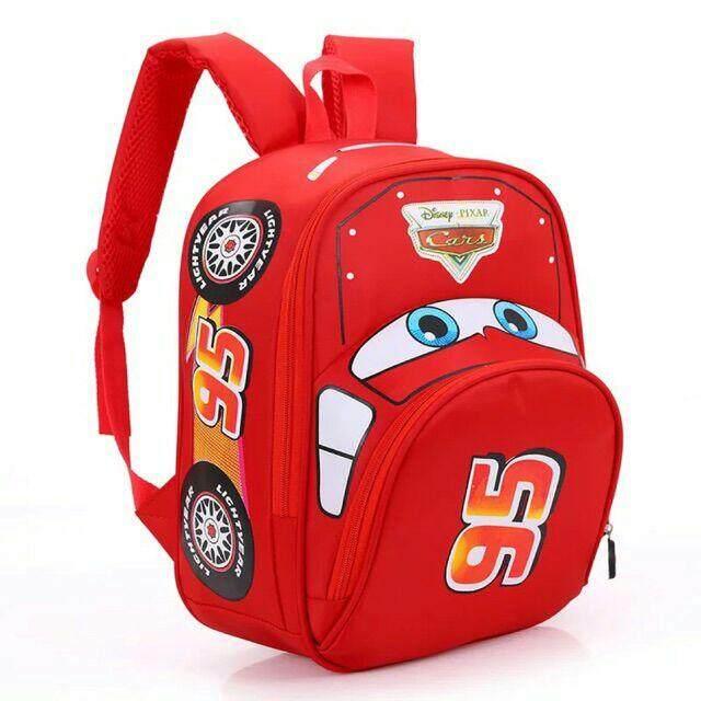 กระเป๋านักเรียน กระเป๋าเป้เด็ก กระเป๋าเด็กอนุบาล ลาย Cars พร้อมส่ง.
