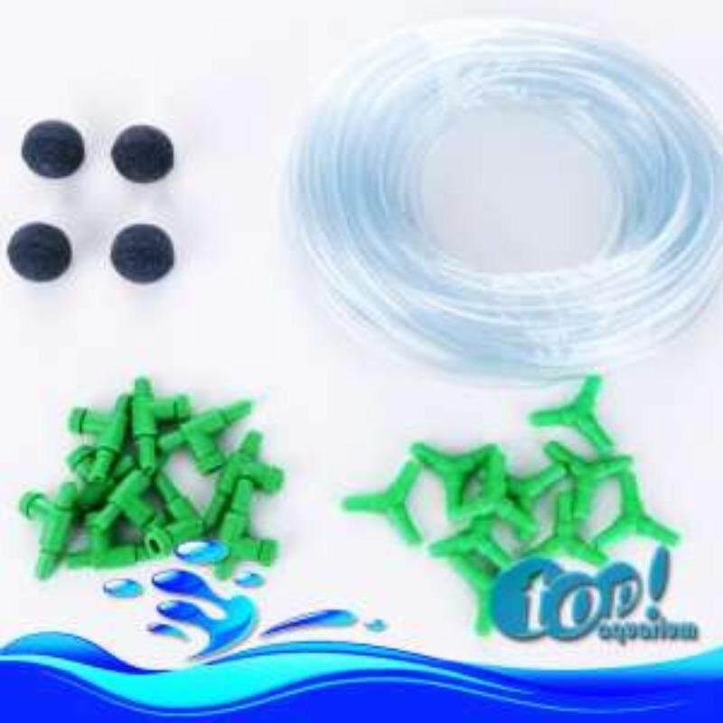 ชุดอุปกรณ์สำหรับต่อออกซิเจน สุดคุ้ม หัวทราย 4หัว - สายยาง 5เมตร - วาร์ลปรับลม 10ชิ้น - สามทาง 10ชิ้น